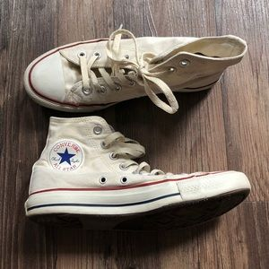 Off white converse high tops